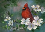 Cardinal in Dogwoods - Product Image