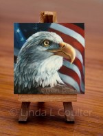 """""""Eagle and Flag"""" ... Color Radiance Painting Techniques - Product Image"""